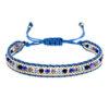 Bohemian Adjustable Bracelet Weaved Crystals Knot