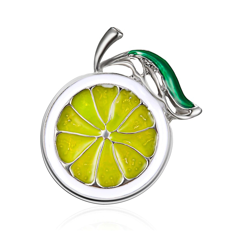 Lime Brooch Cloth Decoration Jewelry