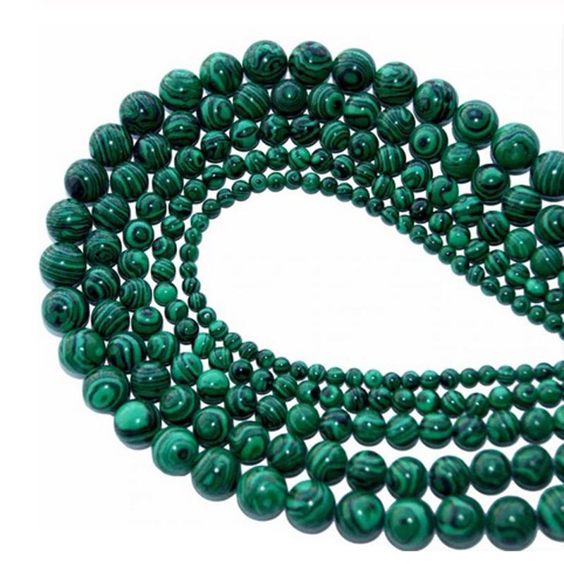 Green Malachite Stone Jewelry Making Gemstones