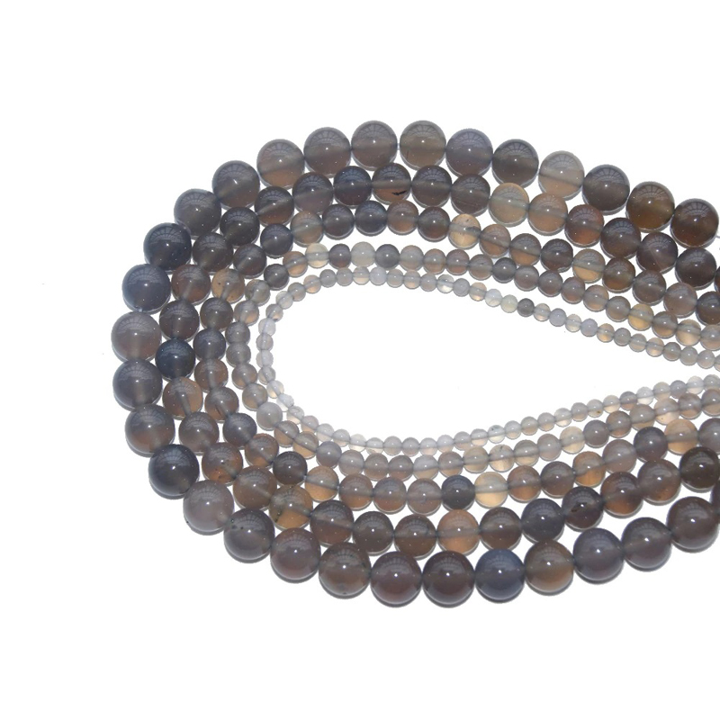 Grey Agate Bracelet Jewelry Making Beads