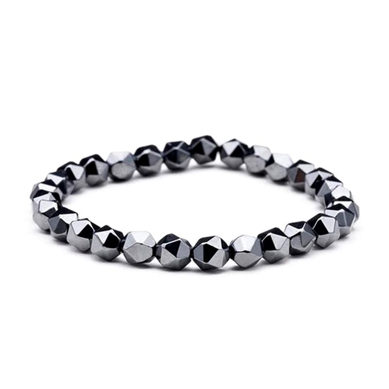 Hematite Beads Bracelet Stretch Unisex