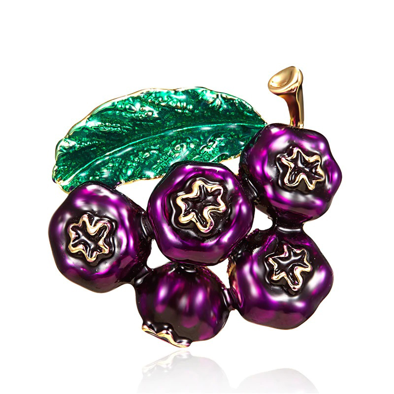 Purple Pomegranates Brooch Cloth Jewelry