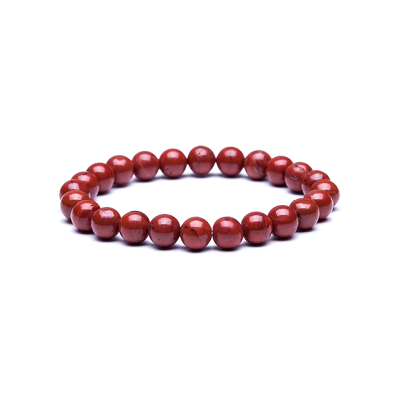 Red Jasper Bracelet Beaded Stretch