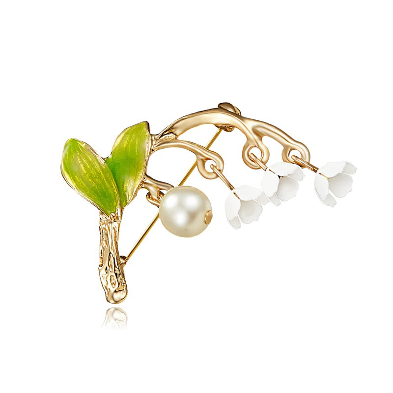 White Orchid Brooch Flower Pin Cloth Jewelry
