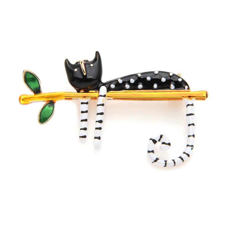 a-black-cat-on-a-tree-pin-clothes-decoration-jewelry-brooch copy