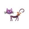 Cat Brooch Rhinestone Enamel Jewelry Pin