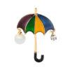 Umbrella Pin Dress Decorating Jewelry Brooch