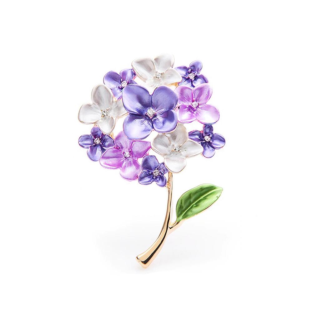 Lilac Brooch Flower Wedding Jewelry Pin