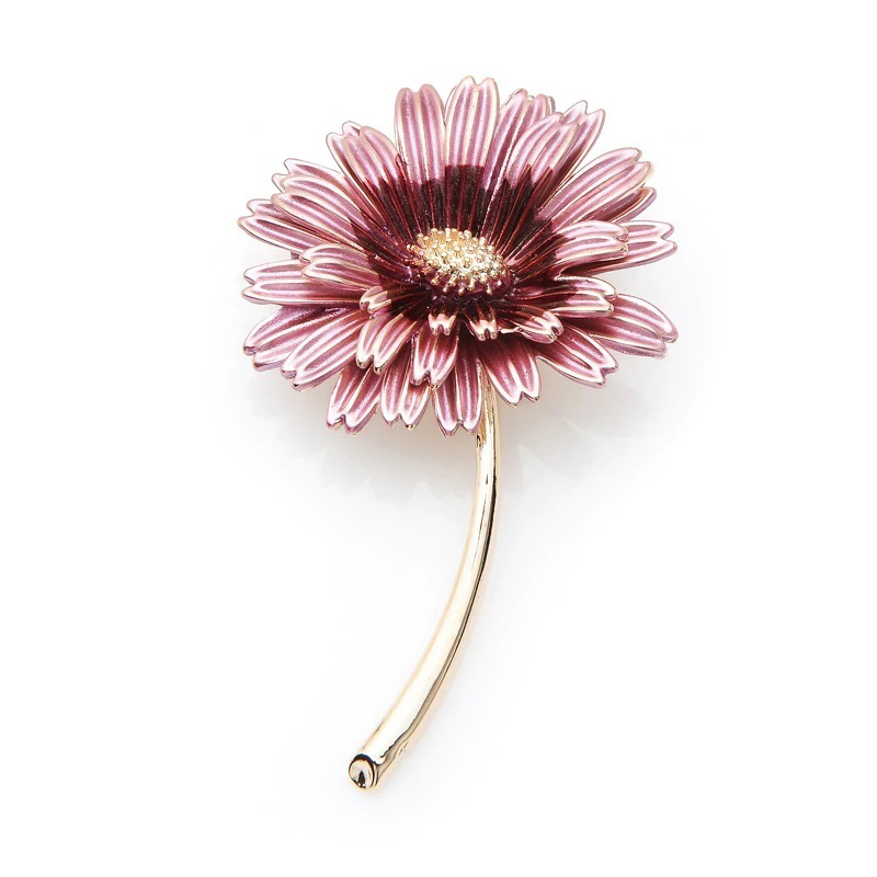 Pink Daisy Jewelry Brooch Wedding Pin