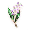 Lavender Jewelry Wedding Flower Brooch Pin