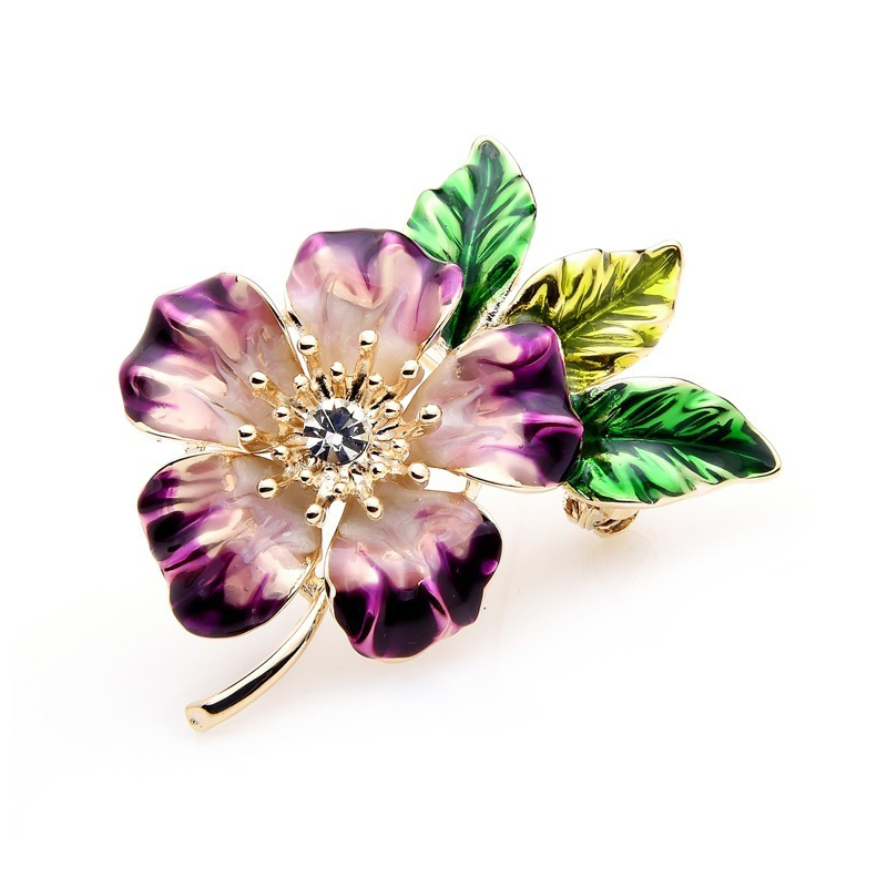 Tree Mallow Brooch Wedding Decoration Jewelry Pin