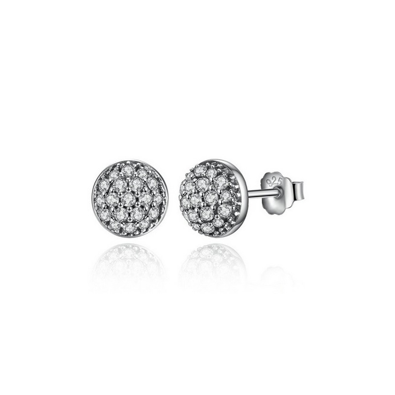 925 Sterling Silver Earrings Stud Cubic Zirconia