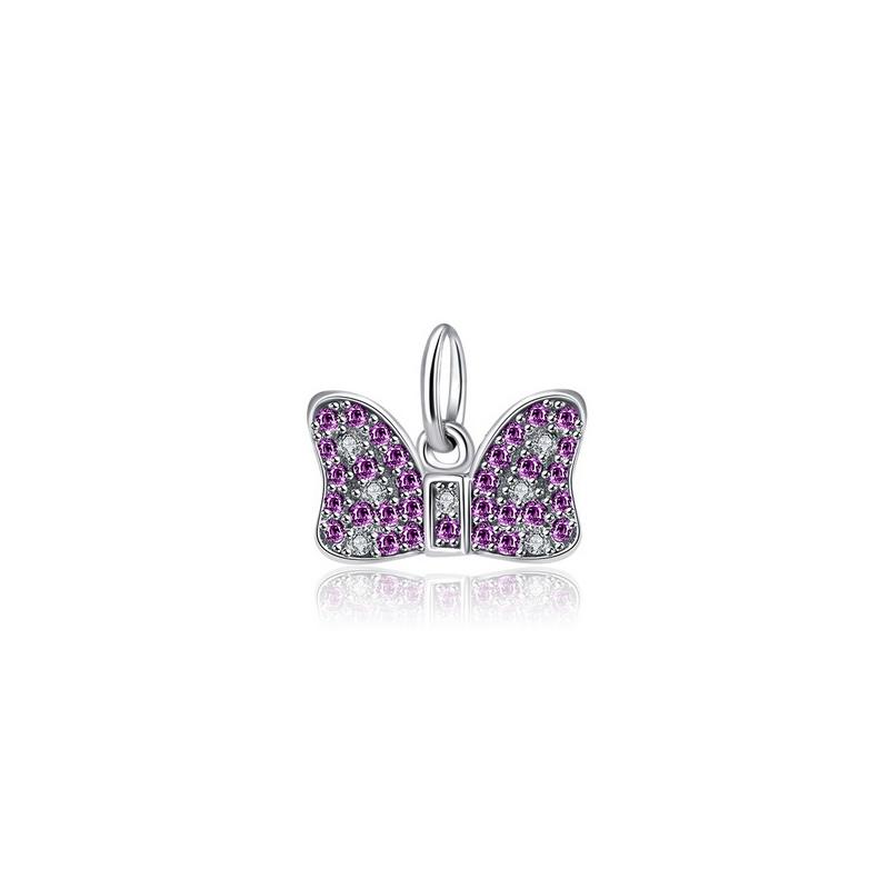 Bow Knot Charm 925 CZ Fits Pandora Bracelets