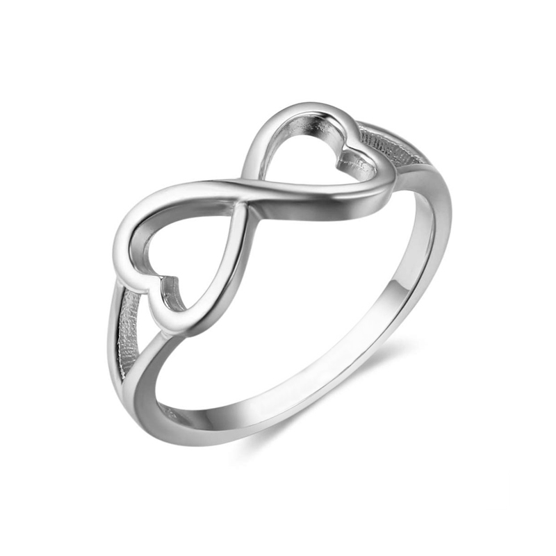 Infinity Ring 925 Sterling Silver Wedding Jewelry