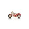 Motorcycle Brooch CZ Enamel Clothes Pin Jewelry