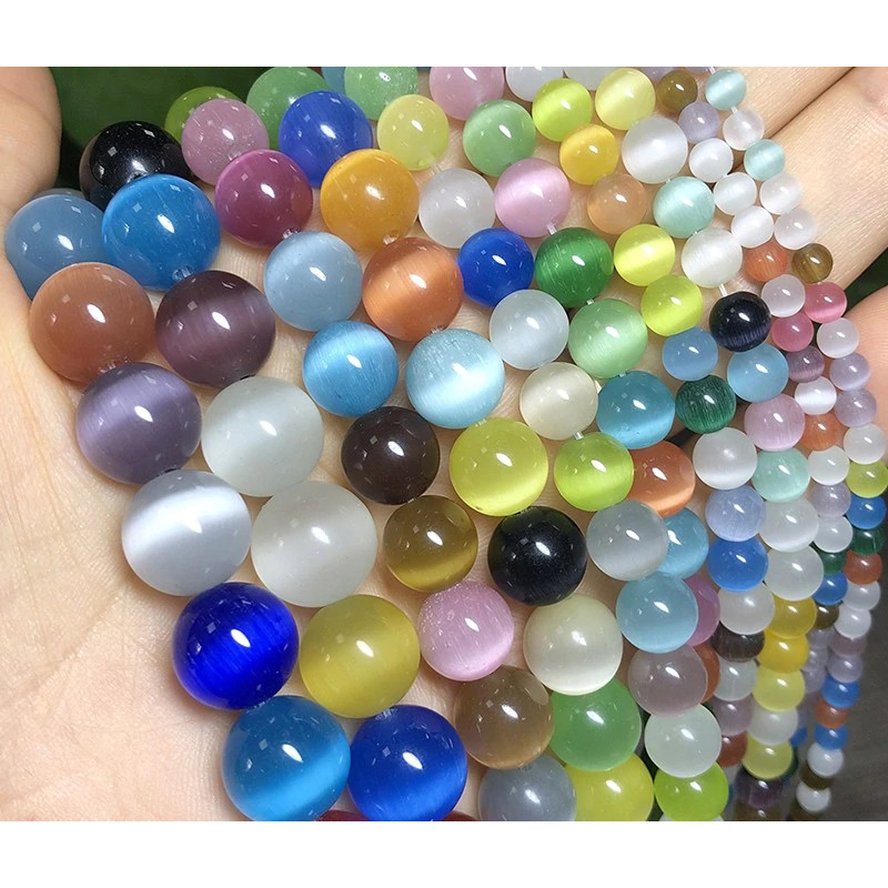beaded-jewelry-making-multi-color-cat-eye-stone