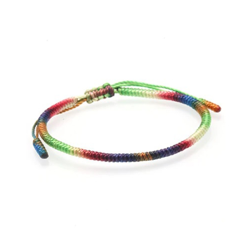 Color Gradient Tibetan Bracelet Lucky Knot Adjustable