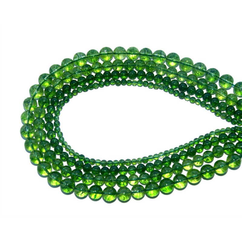 Green Crystal Beads Jewelry Making Gemstones