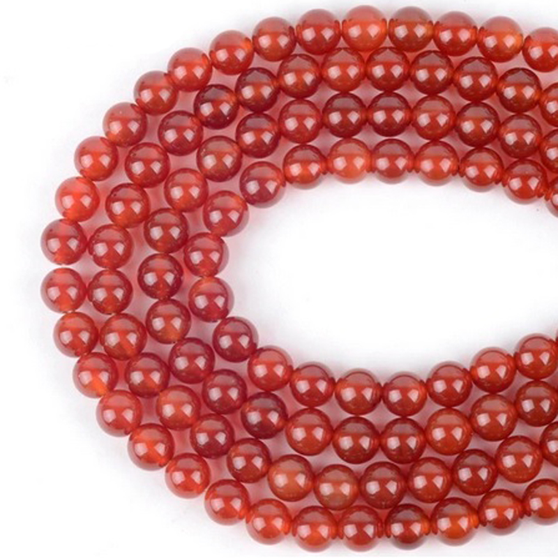 Red Agate Stone Jewelry Making Beads