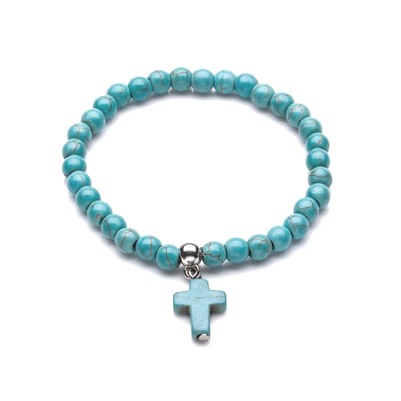 6mm-beads-cross-bracelet-howlite-stretch-blue-BR-14437-14440