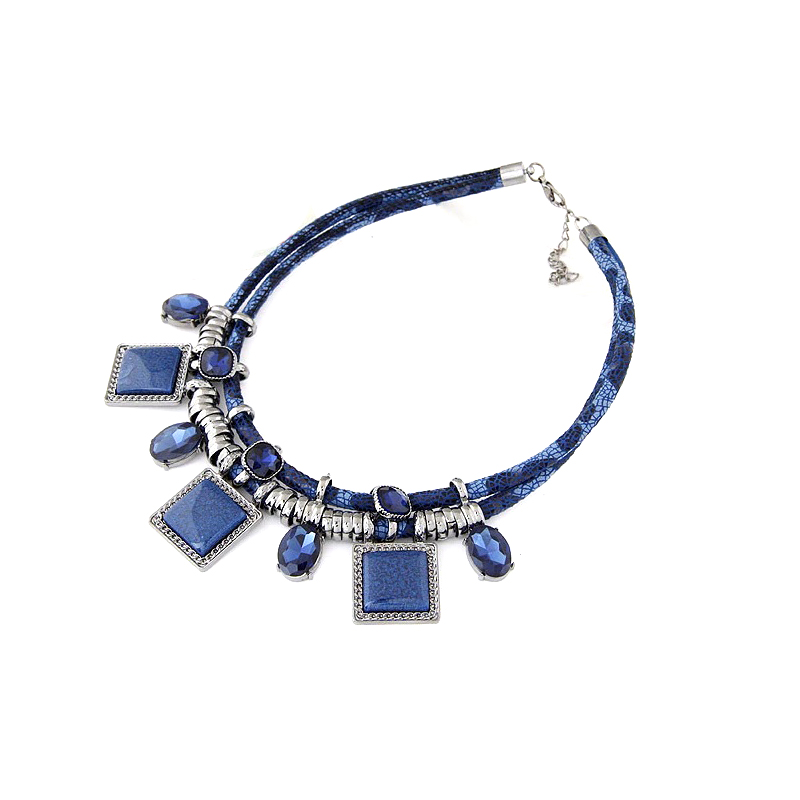 African Style Statement Necklace Crystal Resin Stones