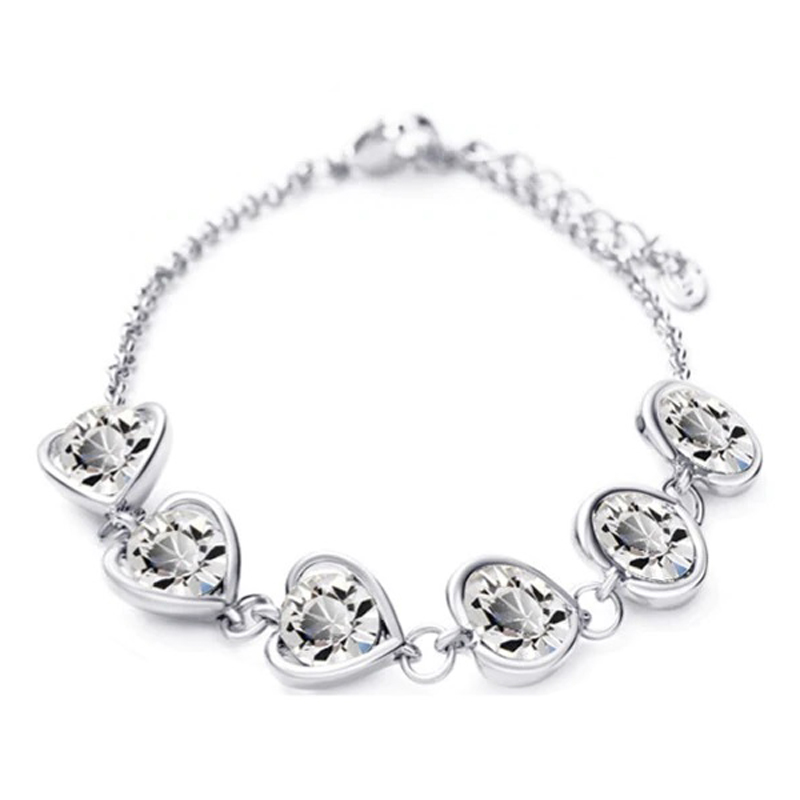 crystal-hearts-bracelet-valentine-love-jewelry-clear-silver-BR-14613-14620