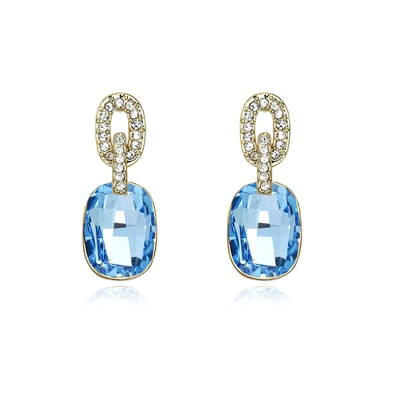 CZ Crystal Drop Earrings Handmade Jewelry