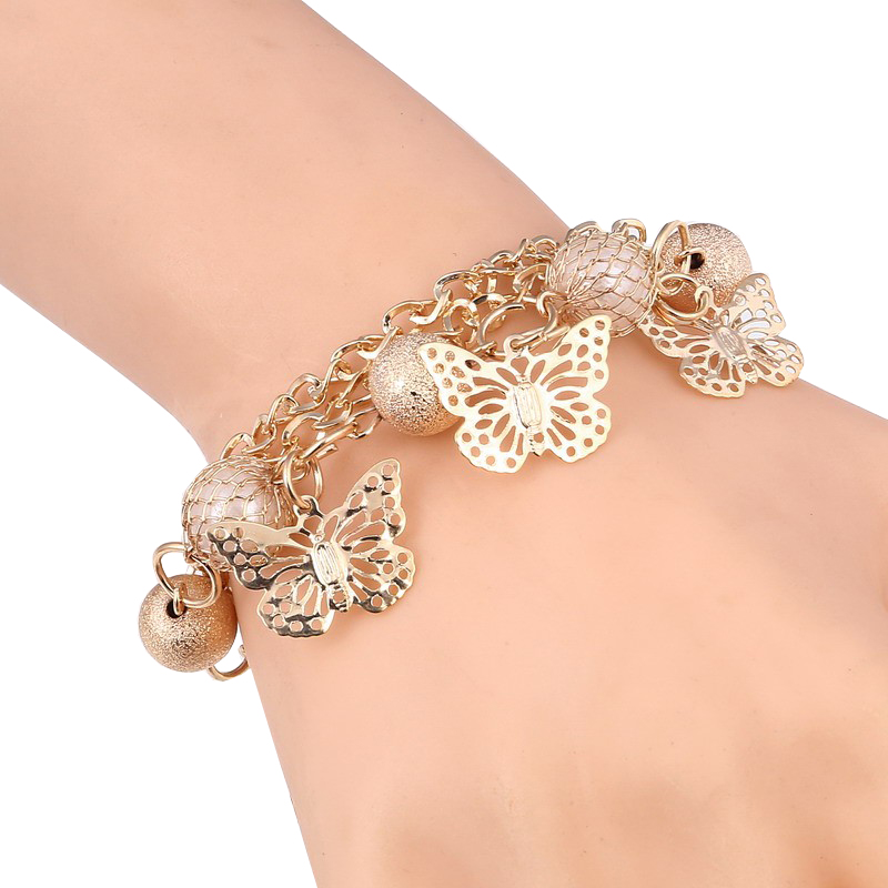 five-butterflies-chain-bracelet-simulated-pearls-BR-14523