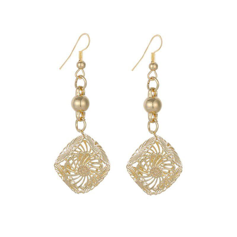Long Dangle Cube Earrings Stainless Steel Jewelry