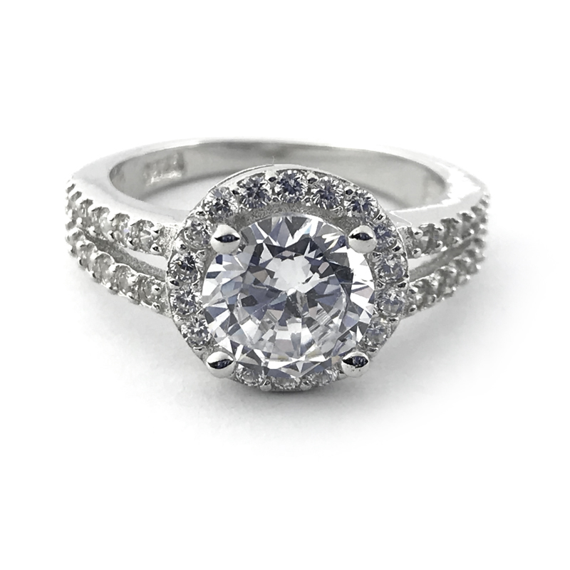 Round CZ Wedding Ring Engagement Jewelry