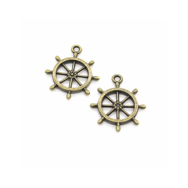 Rudder Charm Pendant Jewelry Making Accessory