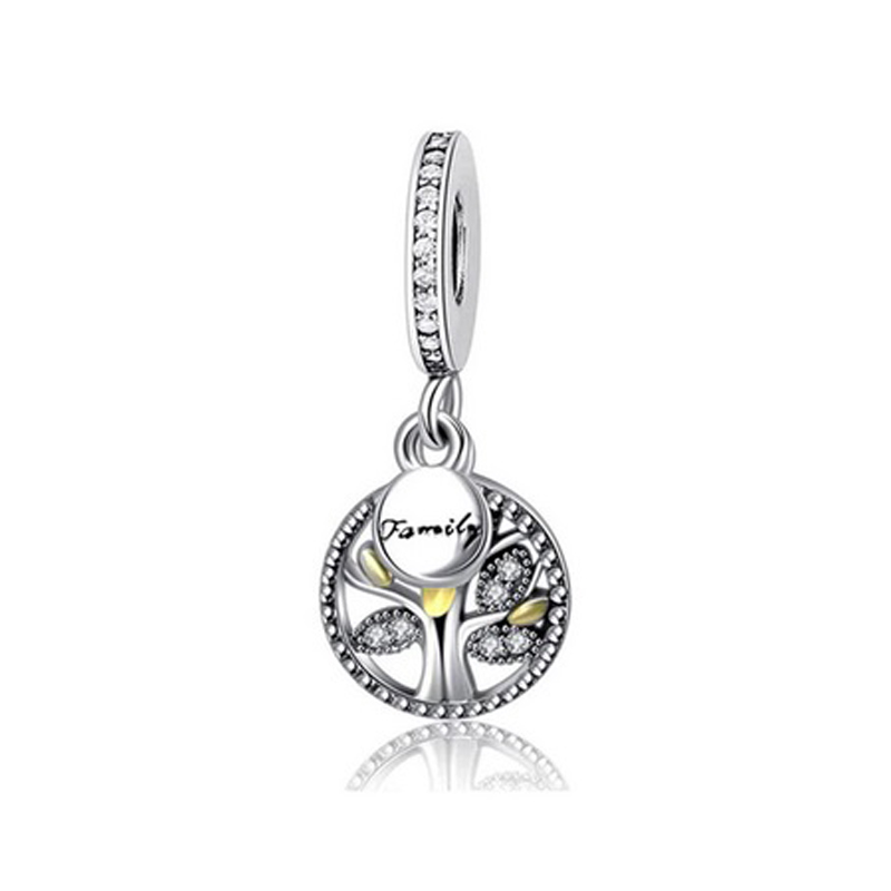 Family Charm Tree of Life CZ 925 Sterling Silver