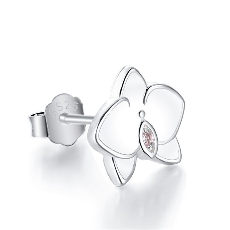 orchid-stud-earrings-enamel-cz-silver-flower-EAR-14846