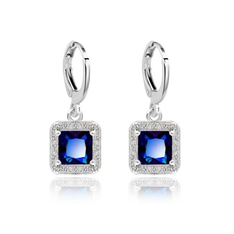 Cubic Zirconia Dangle Earrings Party Jewelry