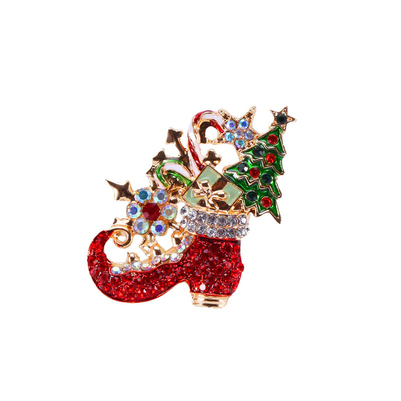 Christmas Boots Brooch Jewelry Gifts Accessory