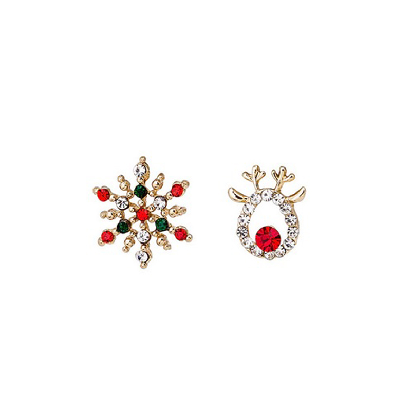 Christmas New Year Earrings Crystal S925