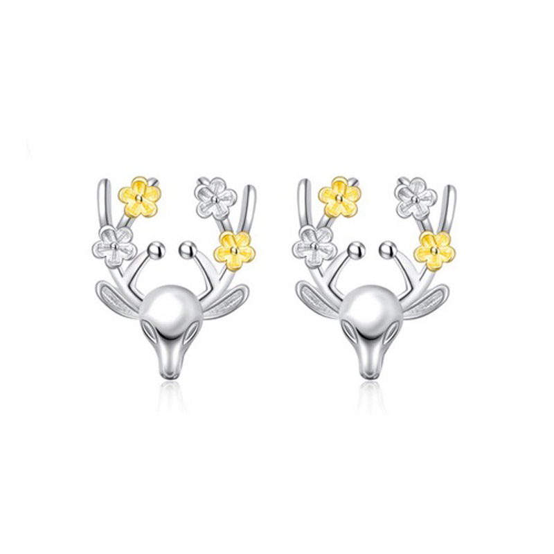 Deer Stud Earrings Christmas Gift Jewelry