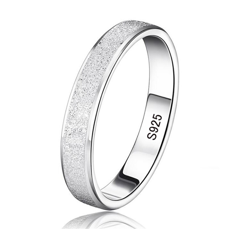 Snowy Band Ring 925 Sterling Silver Wedding Jewelry