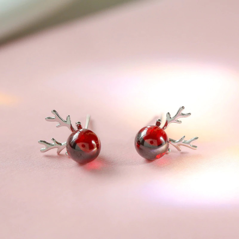stud-earrings-red-garnet-new-year-gift-jewelry-EAR-14877