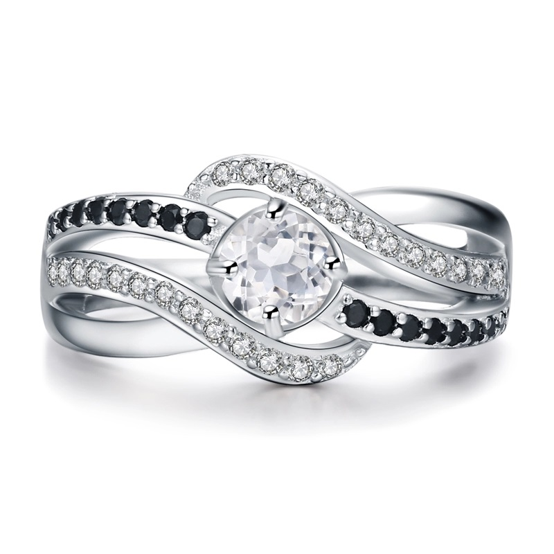 Cubic Zirconia Engagement Ring 925 Sterling Silver