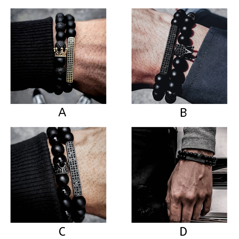 beaded-bracelets-for-men-stretch-crown-cross-charm-a-d-BR-15276