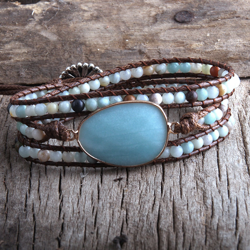 blue-amazonite-natural-stone-wrap-bracelet-boho-handmade-beaded-BR-15453-15455