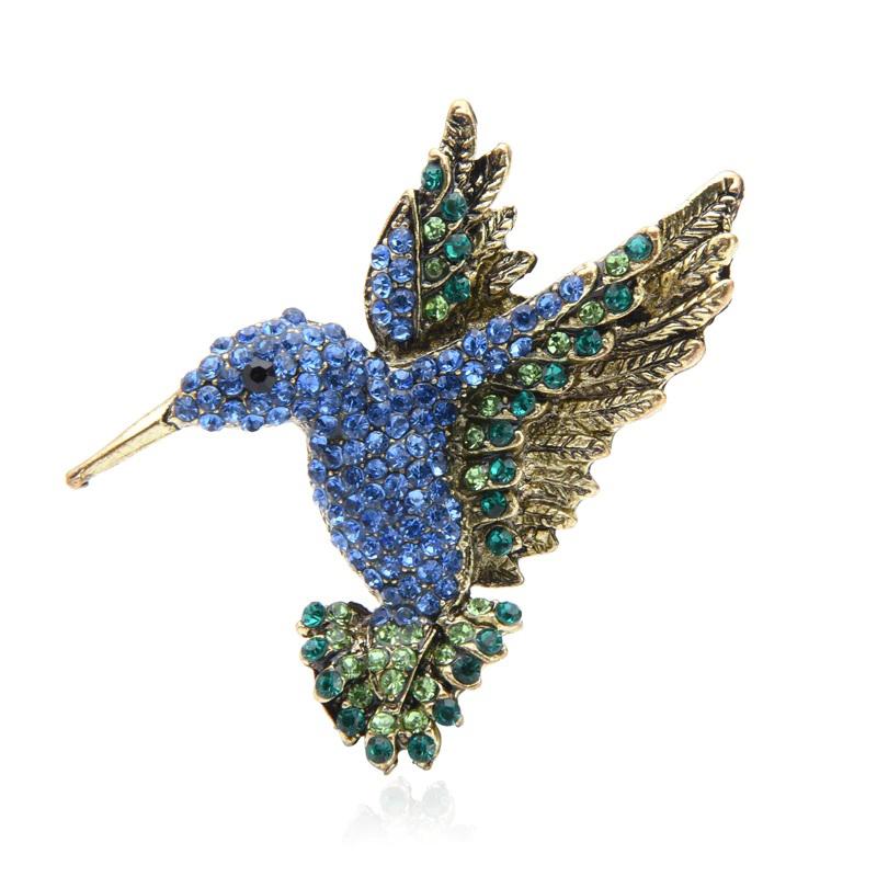 Hummingbird Rhinestone Brooch Decorating Pin Jewelry