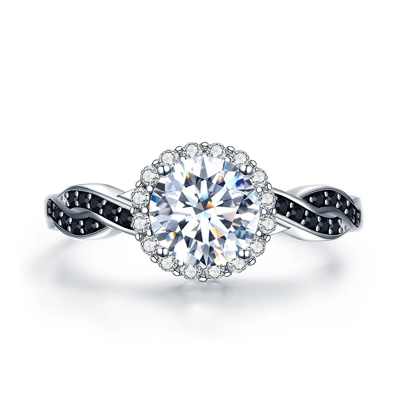 S925 Cubic Zirconia Ring Engagement Wedding