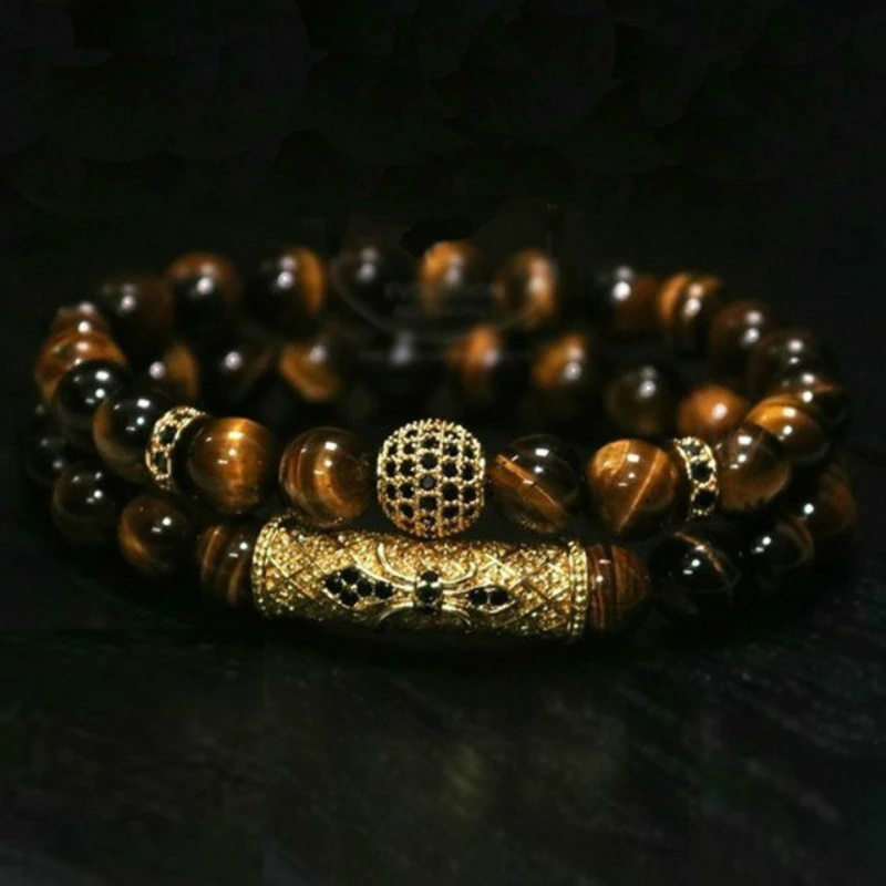 deluxe-mens-bracelet-natural-stone-beaded-jewelry-set-brown-BR-15304-15307