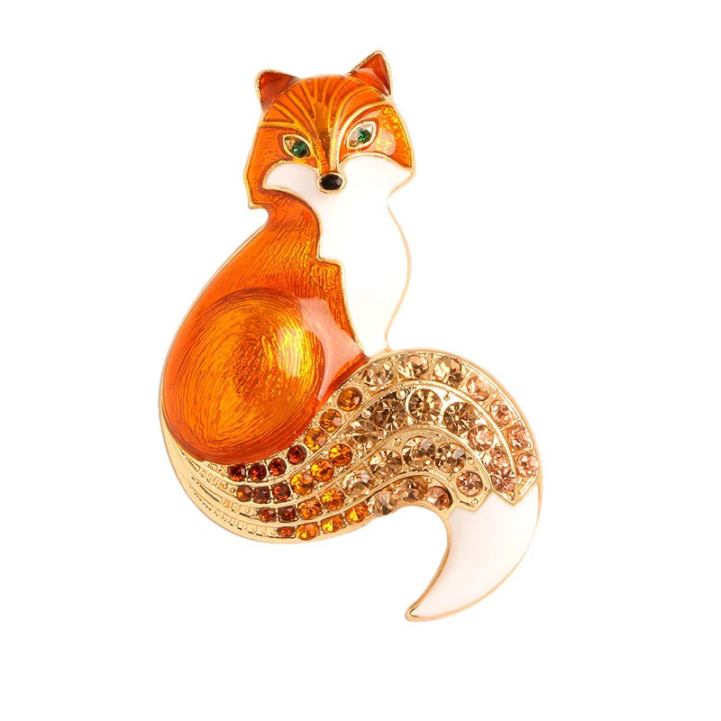 fox-brooch-enamel-rhinestone-cz-animal-pin-jewelry-yellow-PN-15388-15394