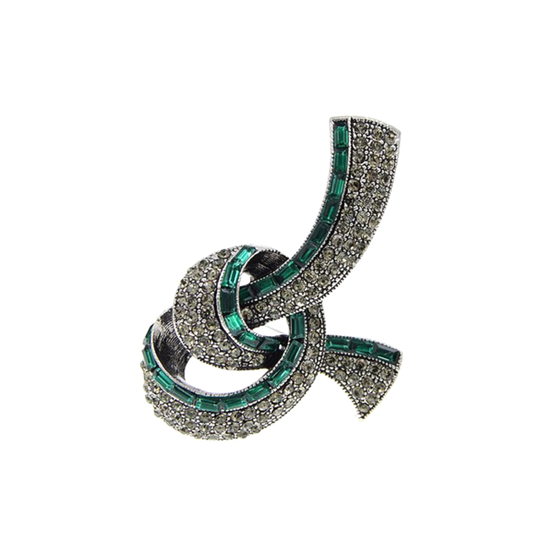 Bow Brooch Vintage Rhinestone High Quality Jewelry Pin