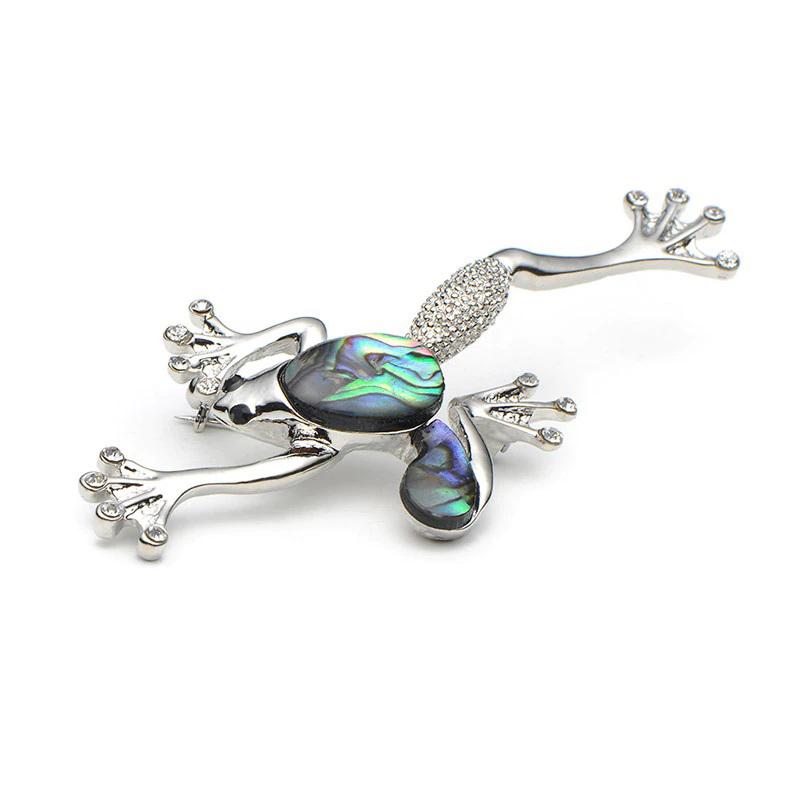 natural-shell-frog-pin-brooch-alloy-hat-scarf-PN-15088