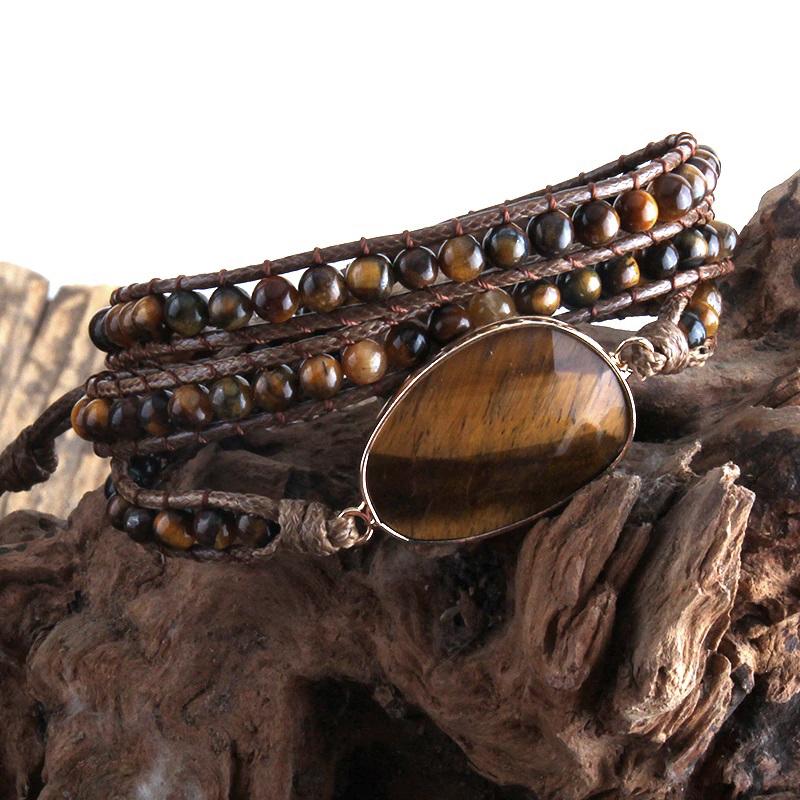natural-stone-wrap-bracelet-boho-handmade-beaded-brown-tiger-eye-BR-15453-15457