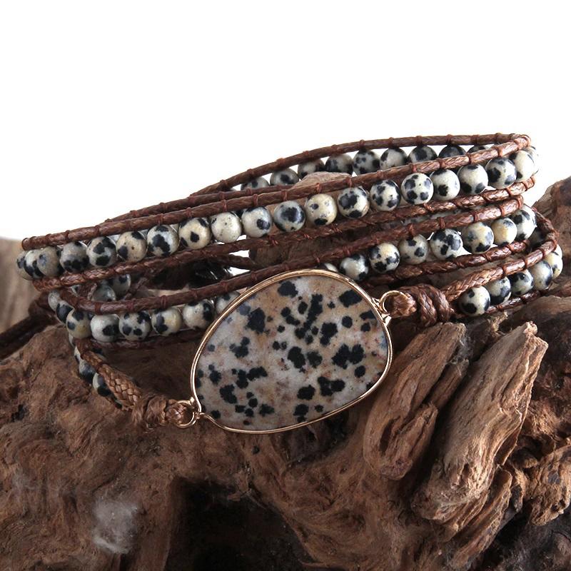 natural-stone-wrap-bracelet-boho-handmade-beaded-dalmatian-stone-BR-15453-15458